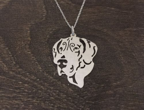 Custom made Face of your Great Dane sterling silver pendant Handmade by saw piercing from a photo